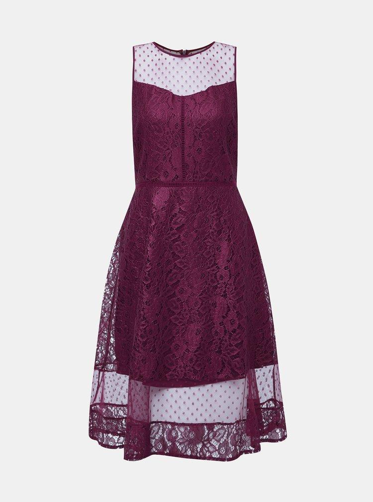 Vínové krajkové šaty Dorothy Perkins