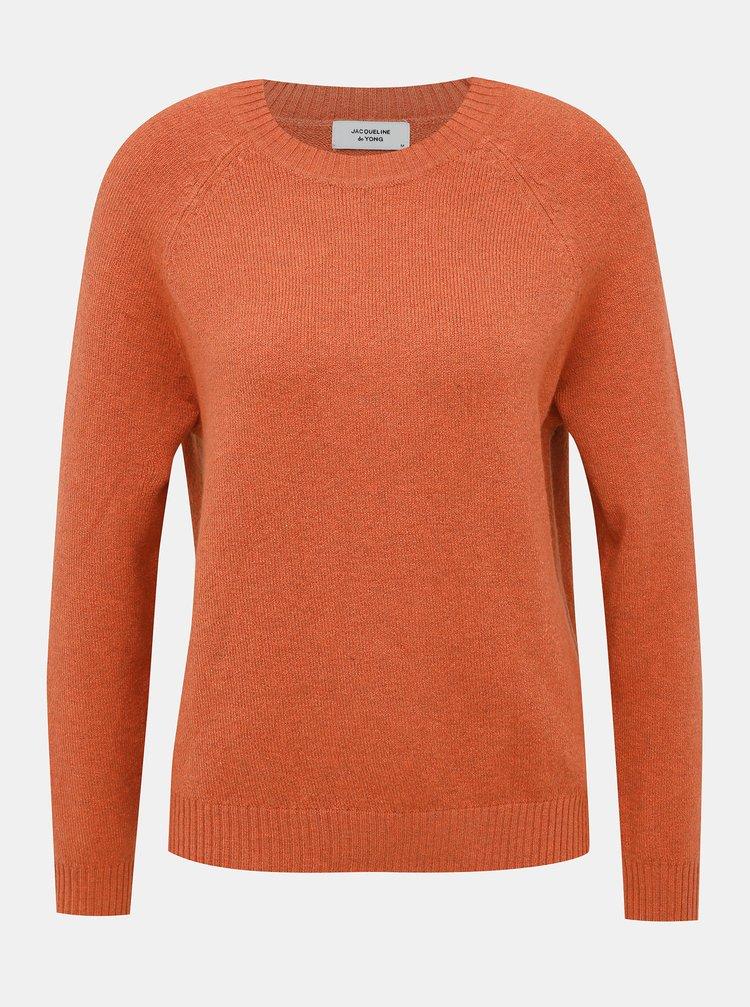 Oranžový basic sveter Jacqueline de Yong New Platinum