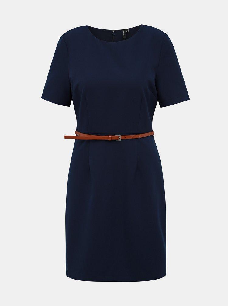 Tmavě modré šaty VERO MODA Kaya