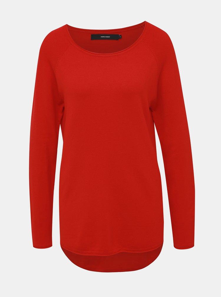 Červený basic svetr VERO MODA Nellie