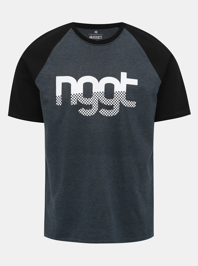 Šedé pánské tričko s potiskem NUGGET Asset