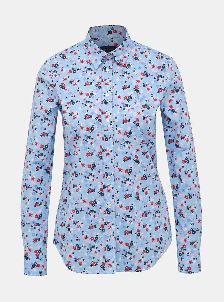 Modrá dámská květovaná košile GANT
