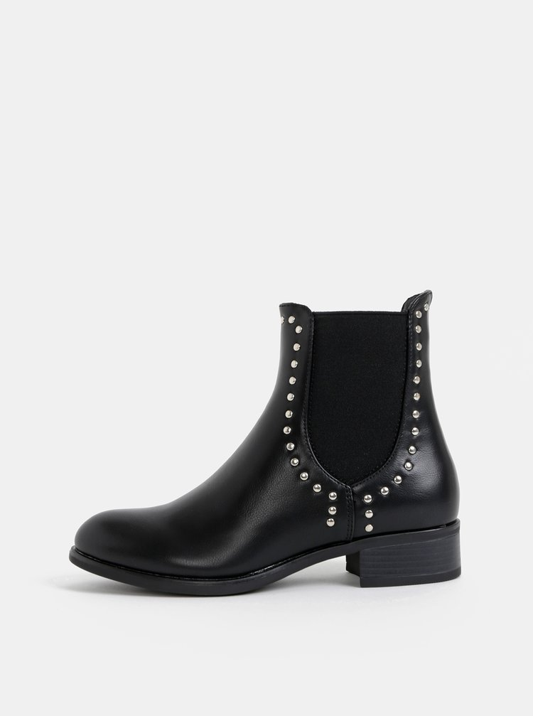 Černé chelsea boty Pieces Harper