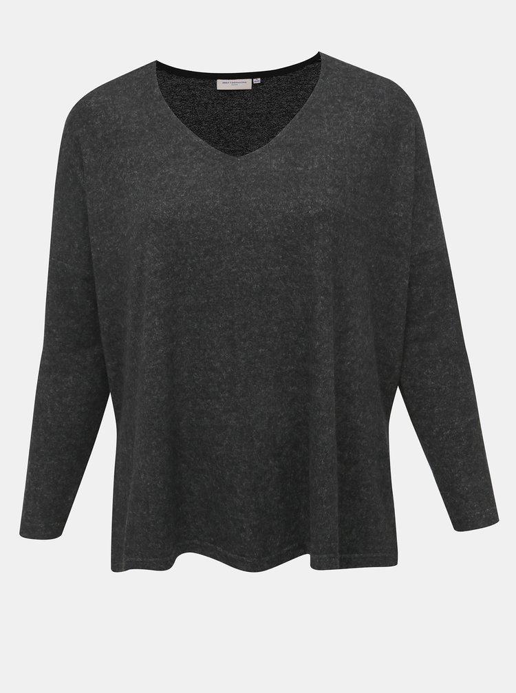 Tmavošedý sveter s rozparkami ONLY CARMAKOMA Carindia