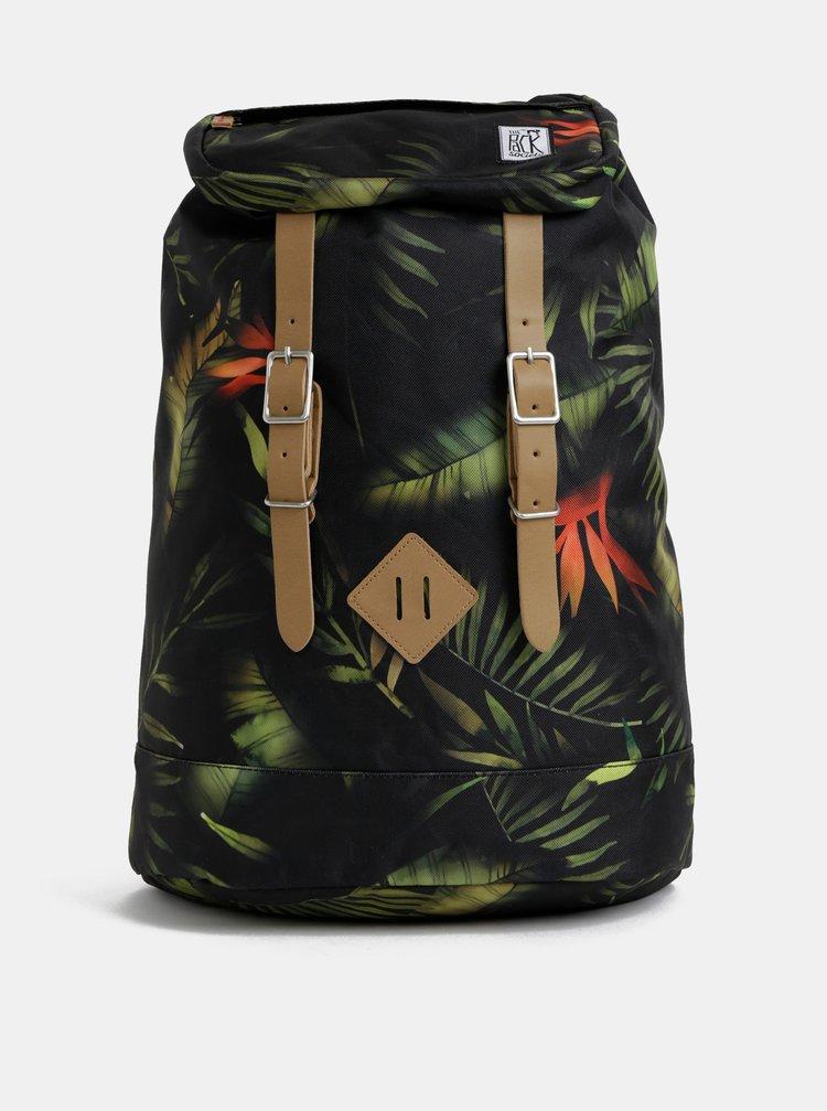Zeleno-černý vzorovaný batoh The Pack Society