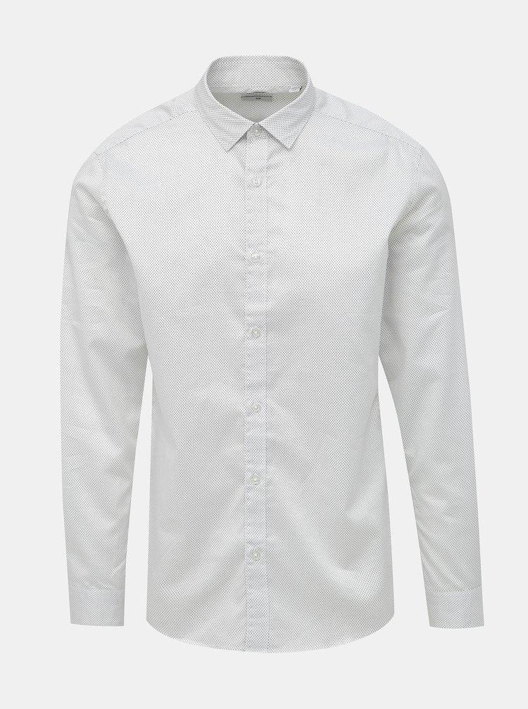 Biela vzorovaná slim fit košeľa ONLY & SONS Salves