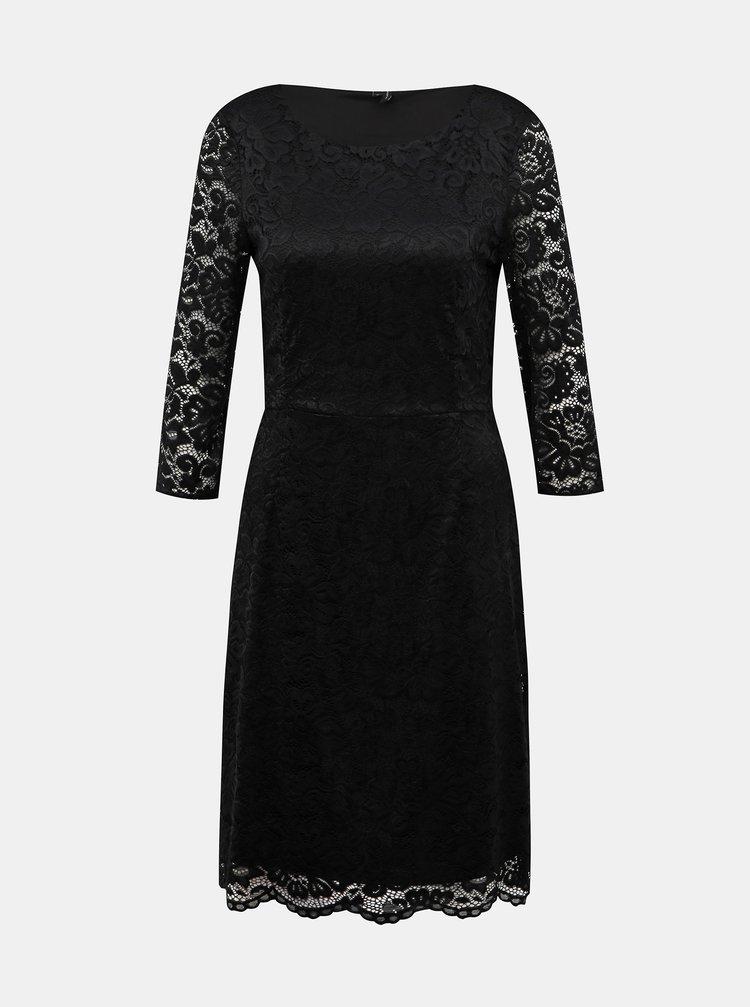 Černé krajkové šaty VERO MODA Stella