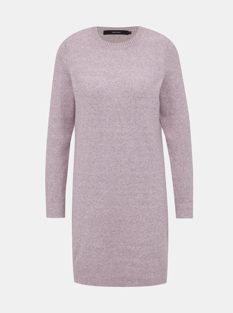 Růžové svetrové šaty VERO MODA Doffy