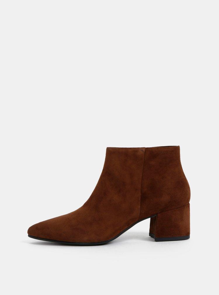 Hnedé dámske semišové členkové topánky Vagabond Mya
