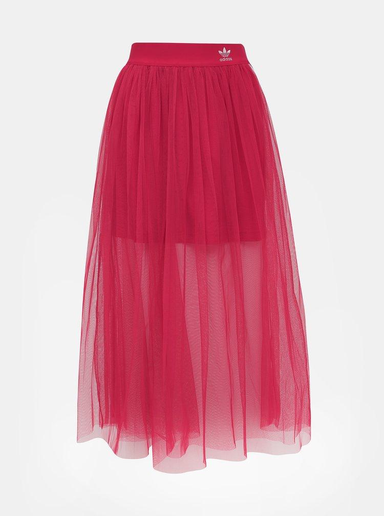 Růžová tylová maxi sukně adidas Originals