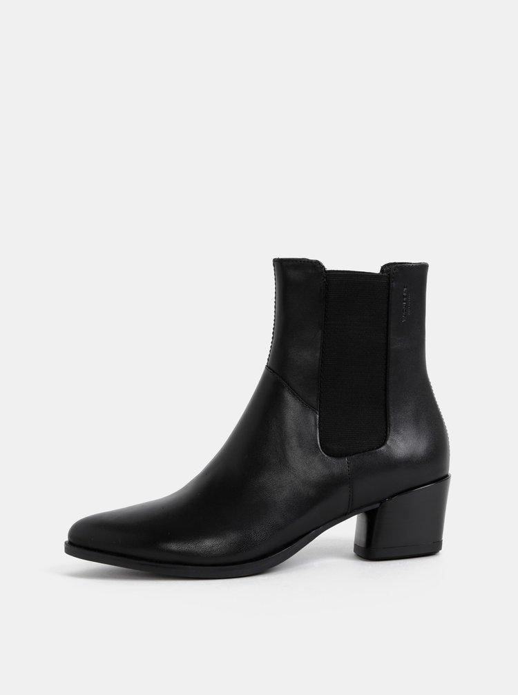 Černé dámské kožené chelsea boty Vagabond Lara