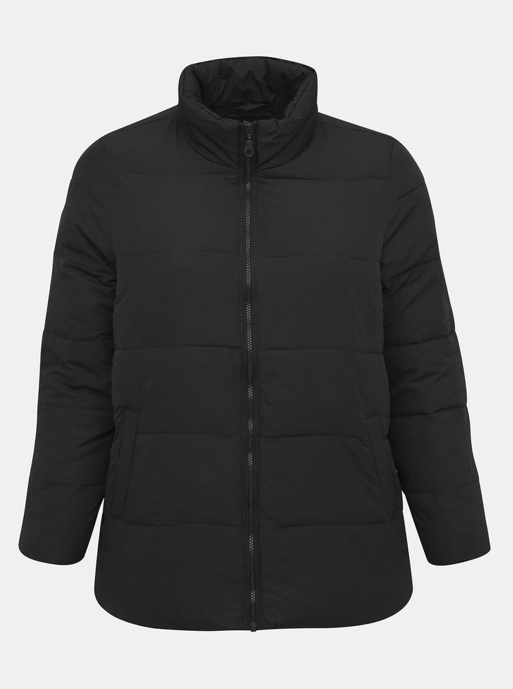 Černá prošívaná zimní bunda Zizzi Selma