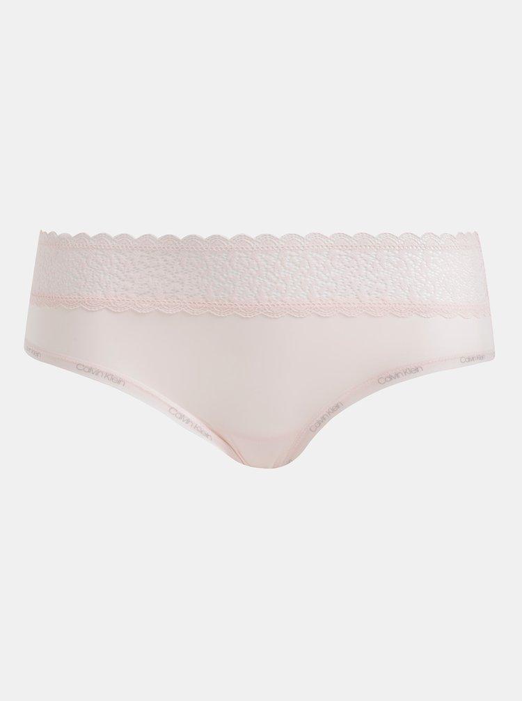 Růžové kalhotky s krajkou Calvin Klein Underwear