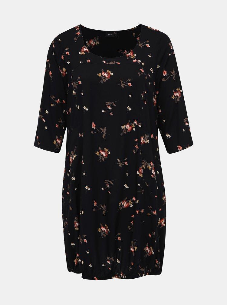 Čierne kvetované šaty Zizzi Amy
