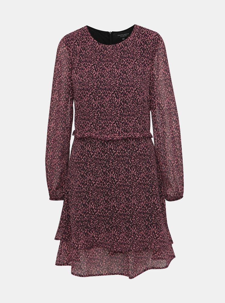 Fialové šaty s gepardím vzorom Dorothy Perkins