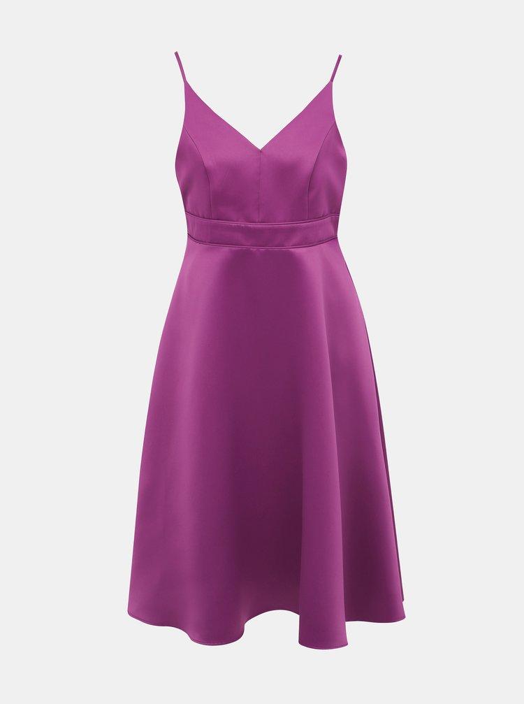 Fialové šaty na ramínkách Dorothy Perkins