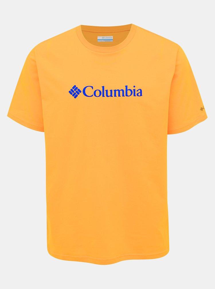 Žluté pánské tričko s krátkým rukávem Columbia