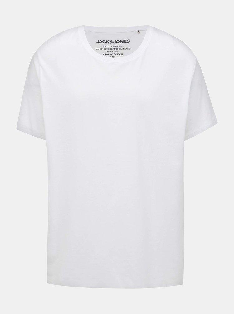 Biele basic tričko Jack & Jones Organic