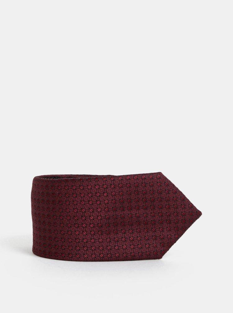 Vínová vzorovaná kravata Selected Homme Martin