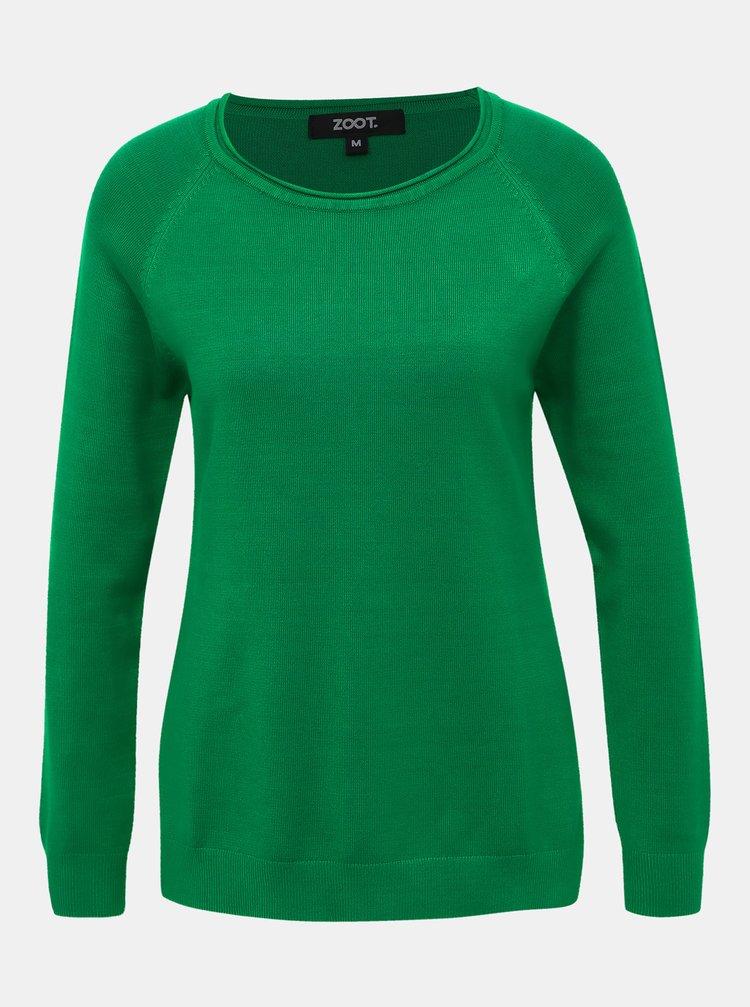 Zelený basic sveter ZOOT