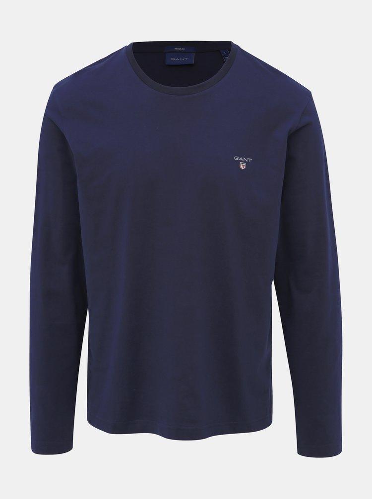 Tmavě modré pánské basic tričko GANT