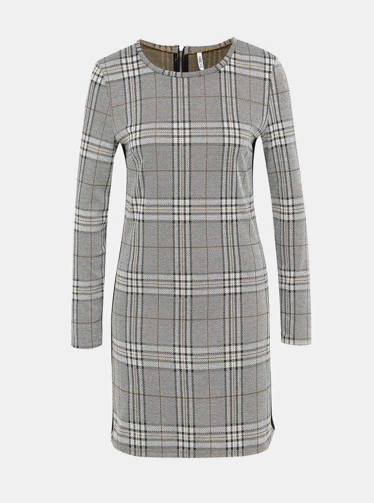 Šedé kockované šaty Haily´s Cora