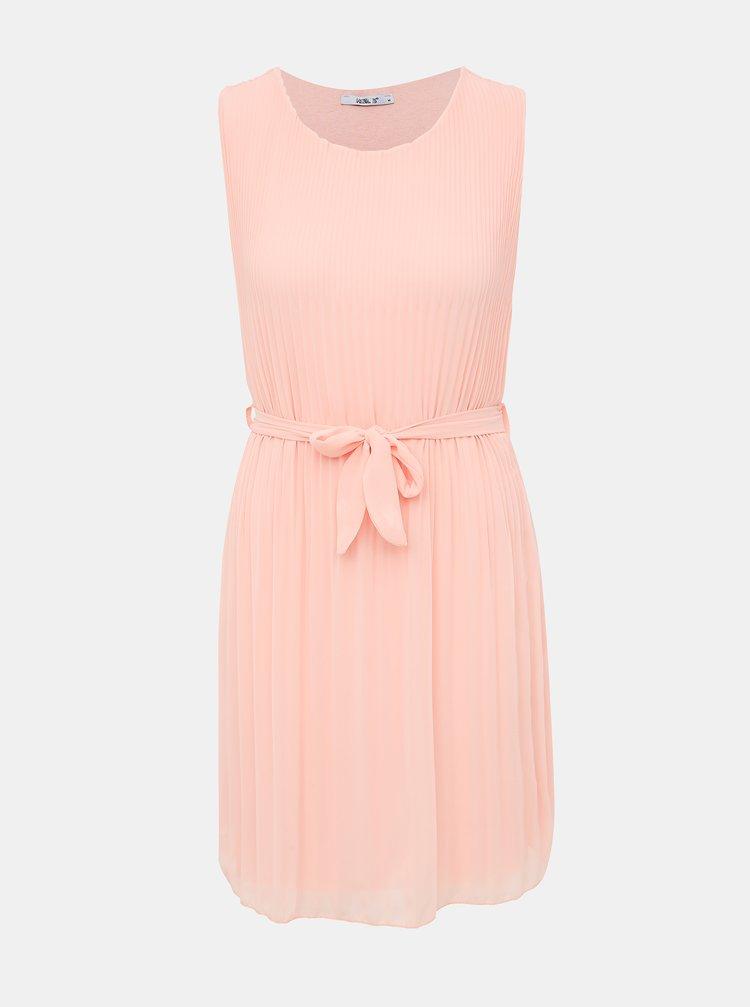 Růžové plisované šaty Haily´s Glory