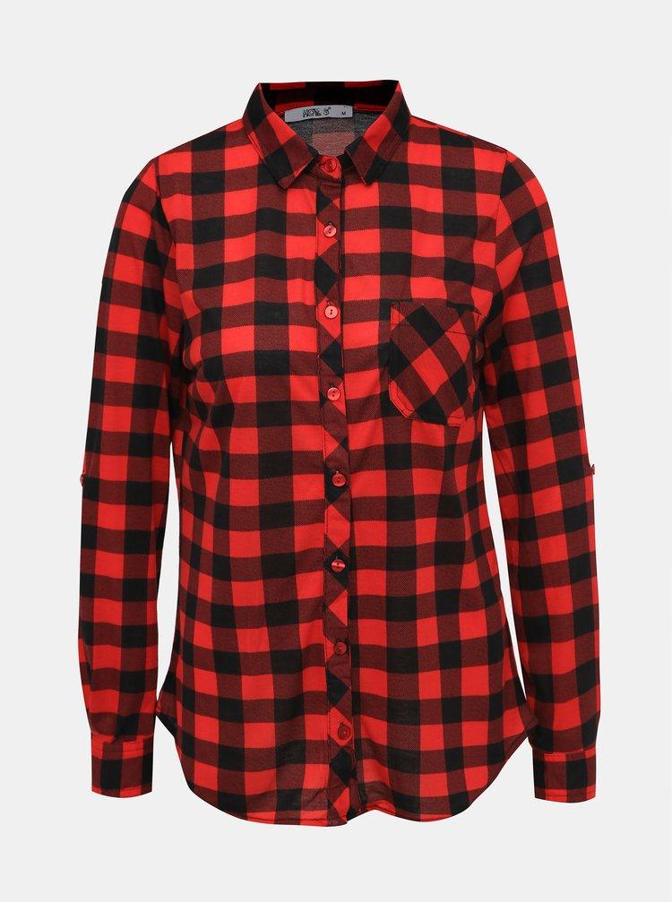Čierno-červená dámska kockovaná košeľa Haily´s Eske