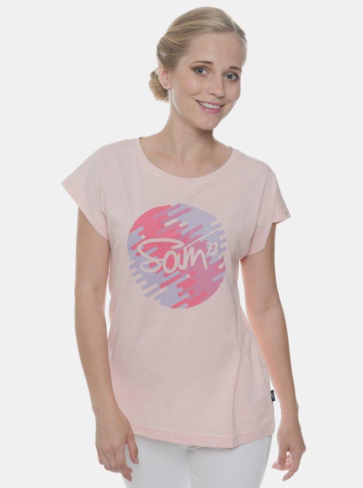 Růžové dámské tričko s potiskem SAM 73
