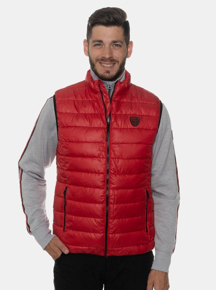Červená pánská prošívaná vesta SAM 73
