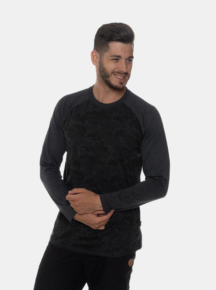 Tmavošedé pánske vzorované tričko SAM 73
