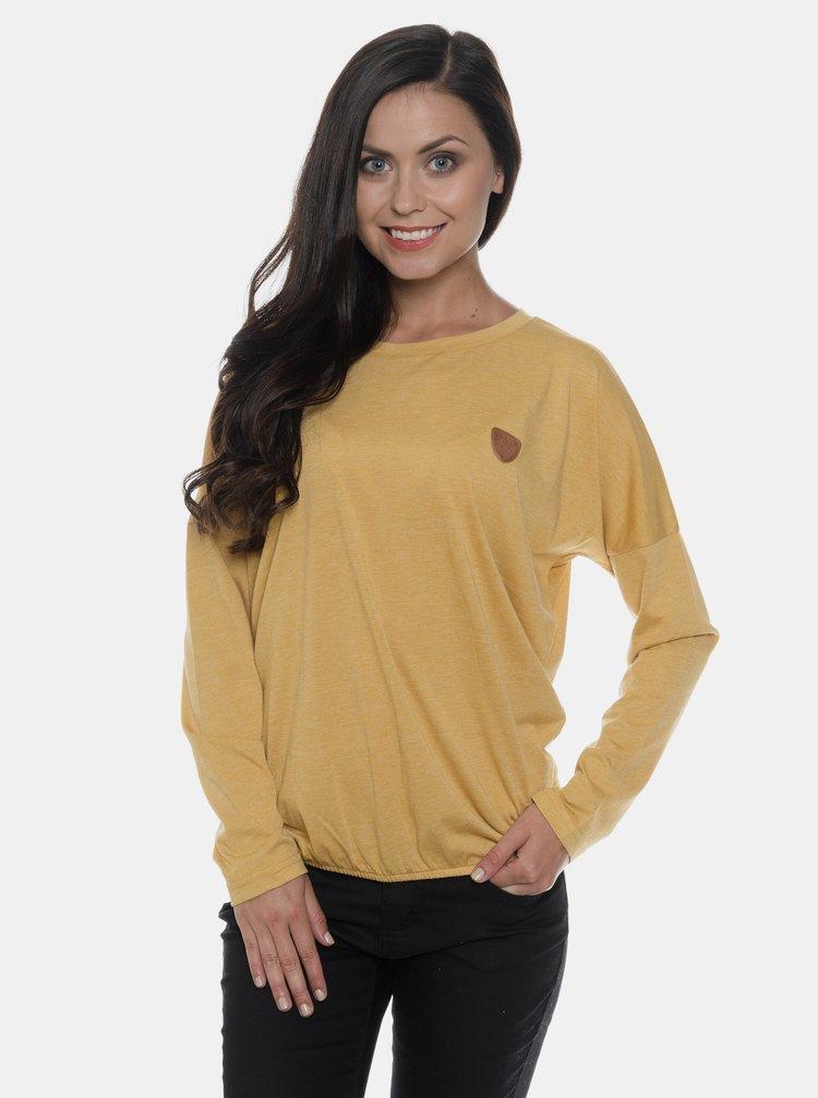 Hořčicové dámské tričko SAM 73