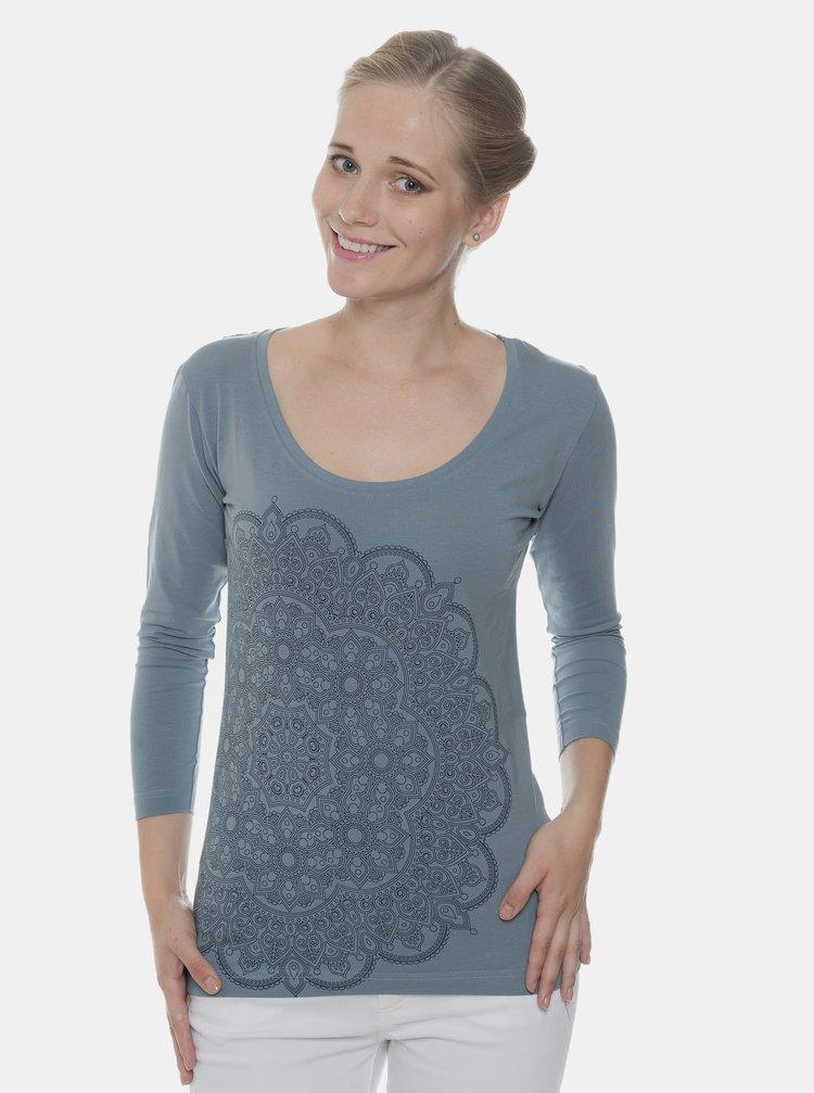 Modré dámske tričko s potlačou SAM 73