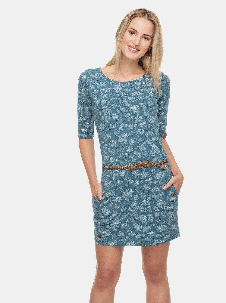 Modré vzorované šaty Ragwear Tanya Print