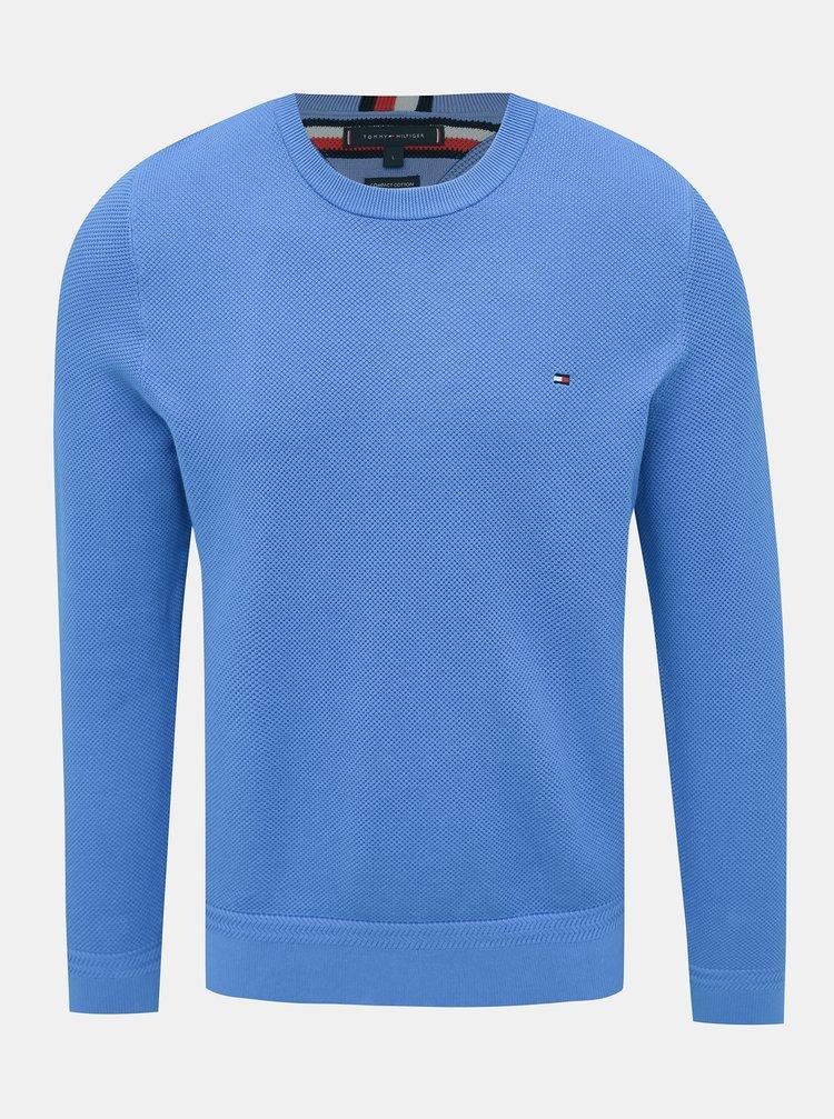Modrý pánský basic svetr Tommy Hilfiger