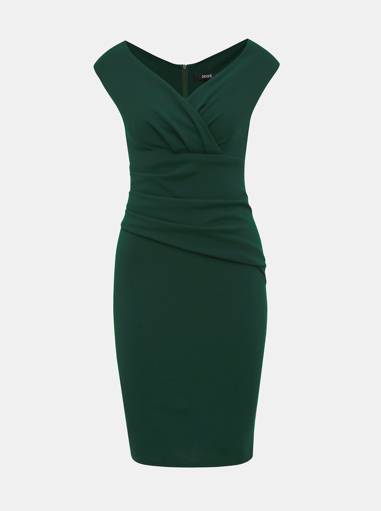 Tmavozelené púzdrové šaty ZOOT