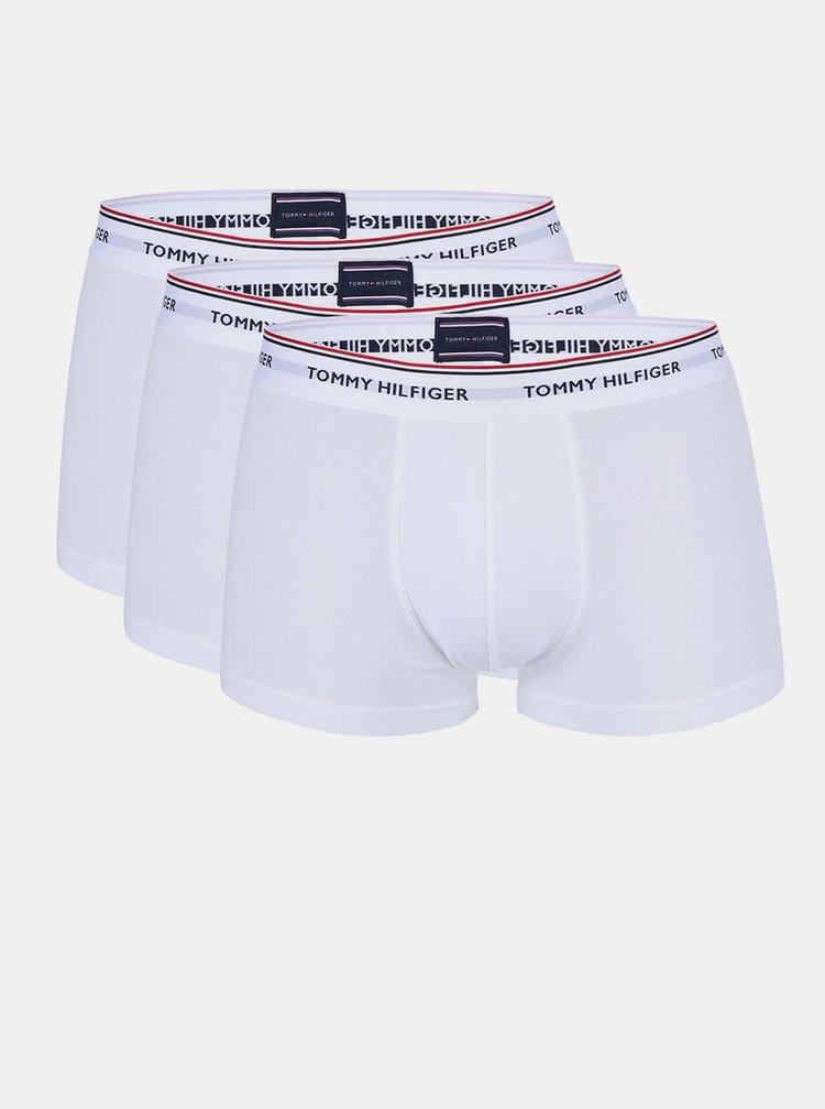 Set de 3 boxeri Tommy Hilfiger albi
