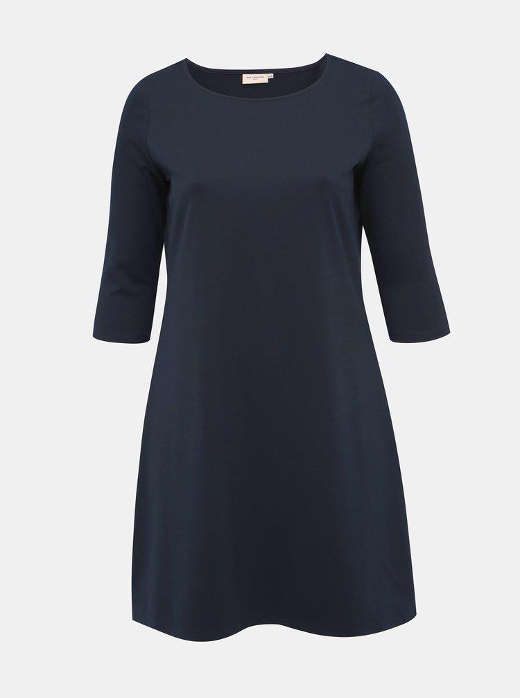 Tmavomodré basic šaty ONLY CARMAKOMA Jennifer