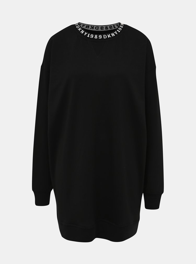 Čierna nočná košeľa DKNY