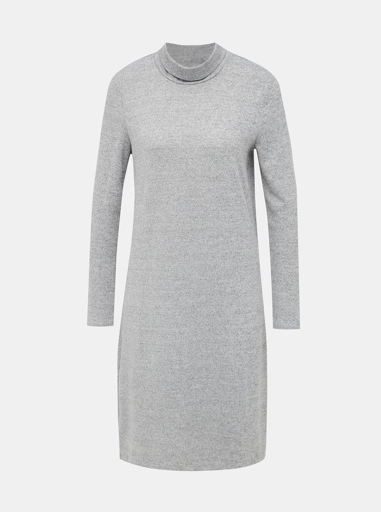 Šedé svetrové basic šaty VERO MODA Alena