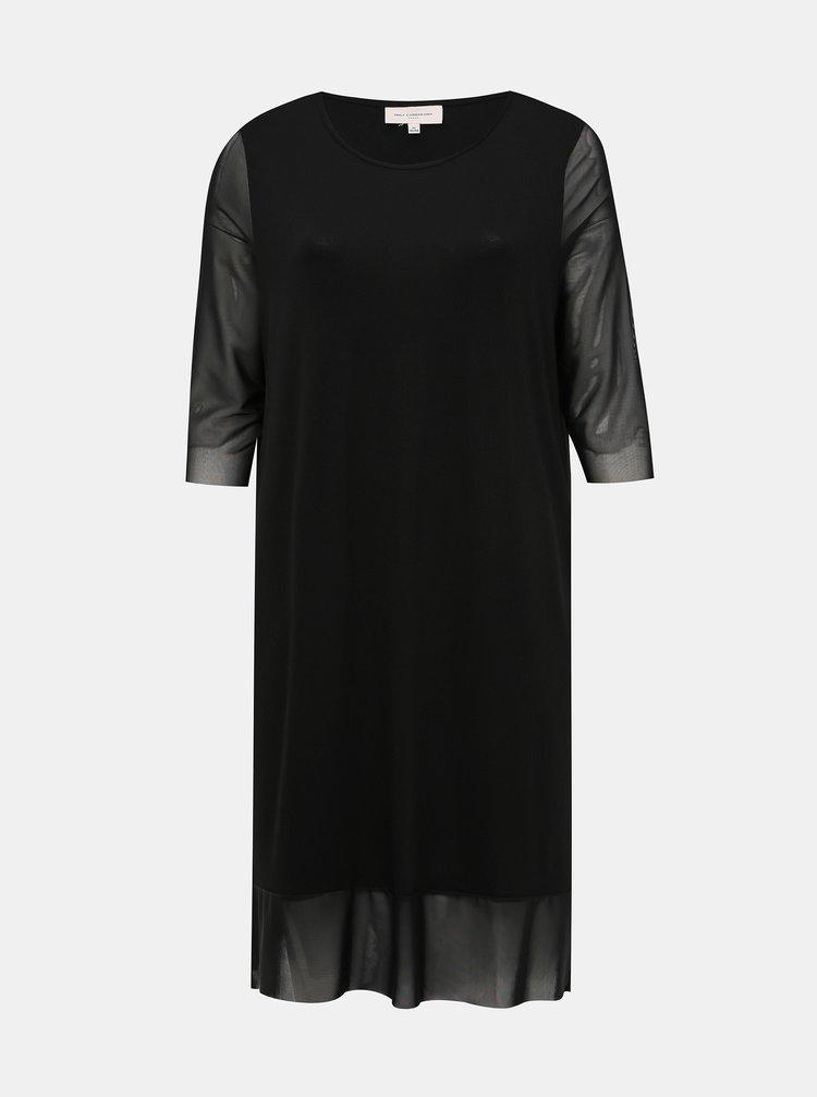 Černé šaty ONLY CARMAKOMA Sissel