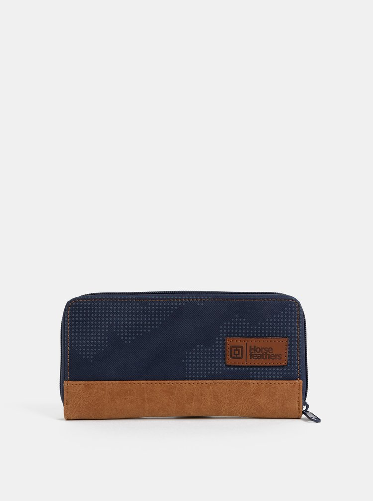 Tmavomodrá dámska vzorovaná peňaženka Horsefeathers Tate