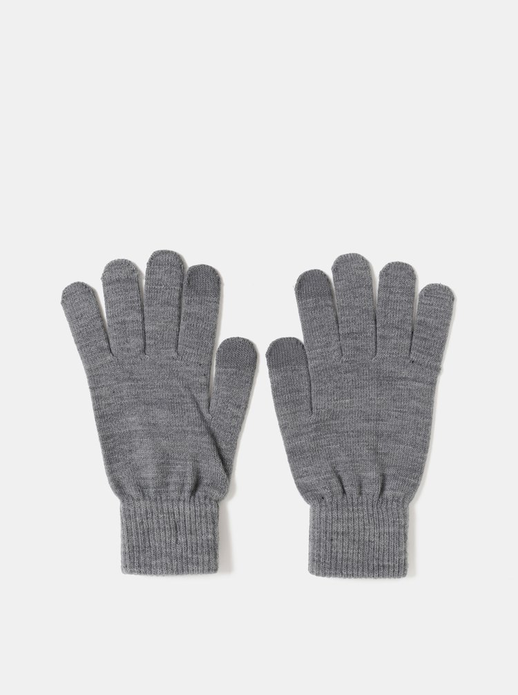 Šedé rukavice na dotykový displej Jack & Jones Chenry