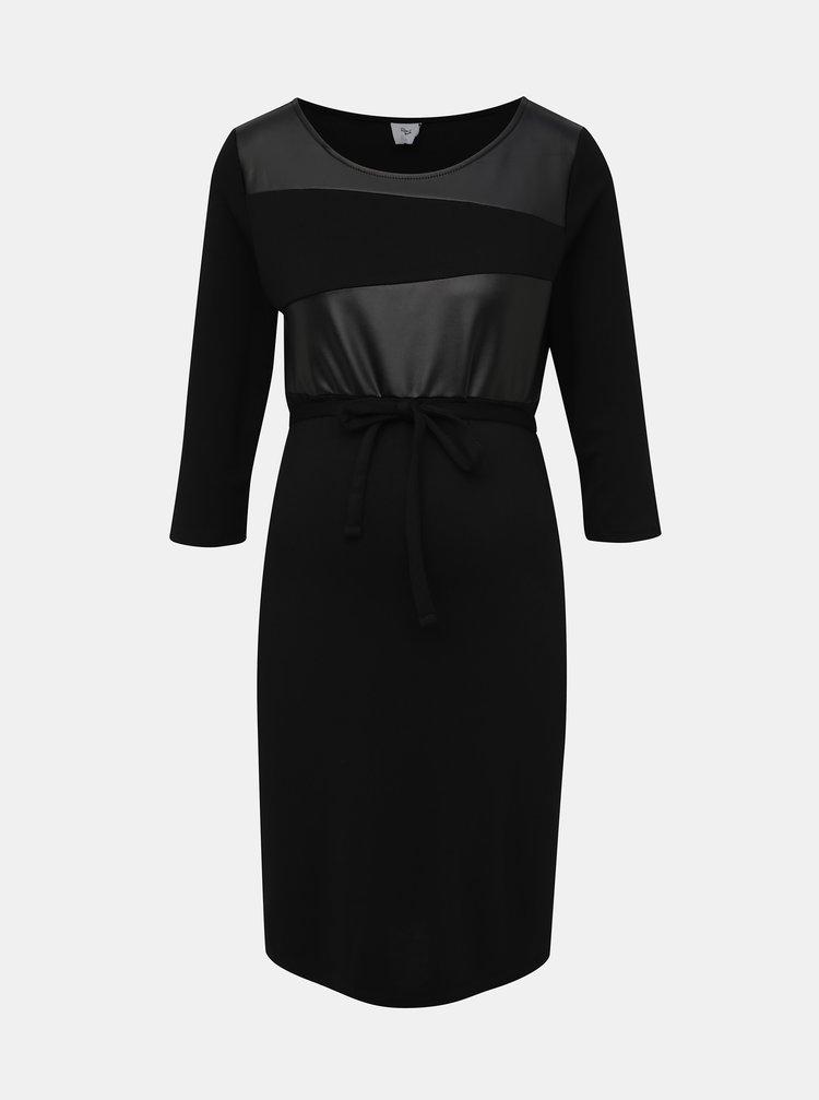Čierne tehotenské šaty Mama.licious Neye