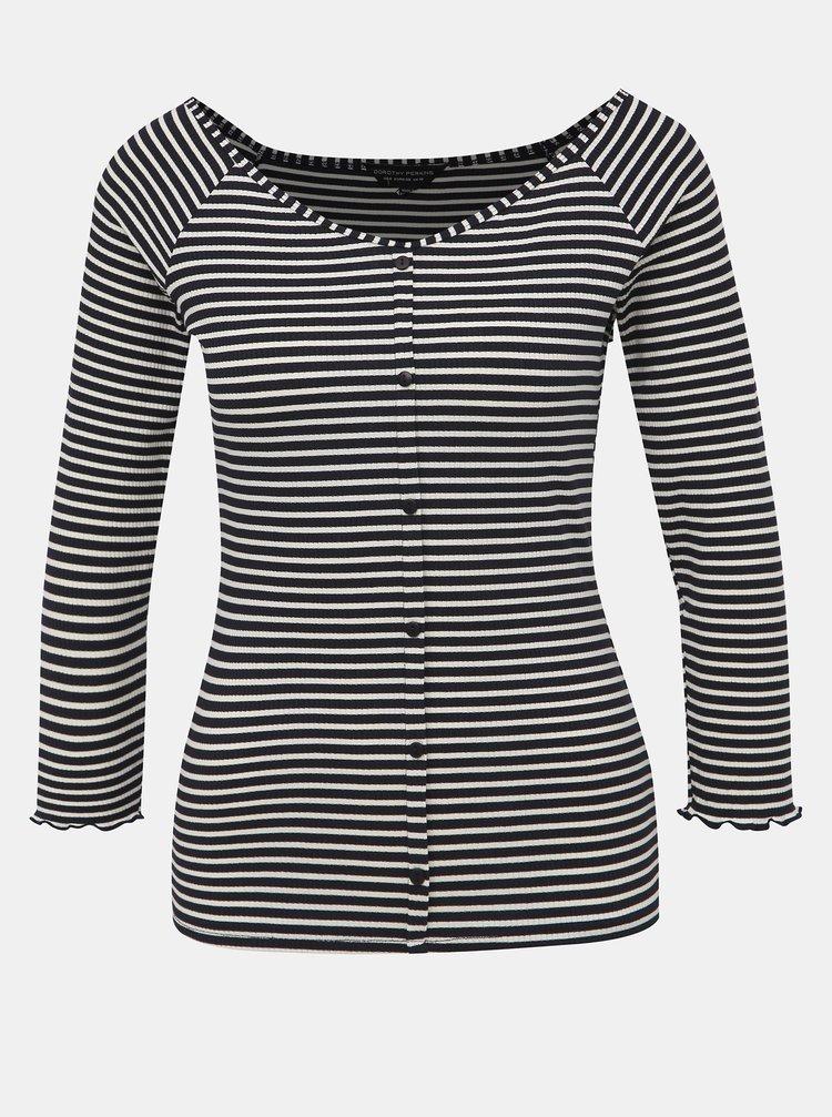 Tmavomodré pruhované tričko Dorothy Perkins
