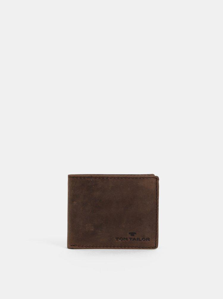 Hnědá pánská kožená peněženka Tom Tailor Ron