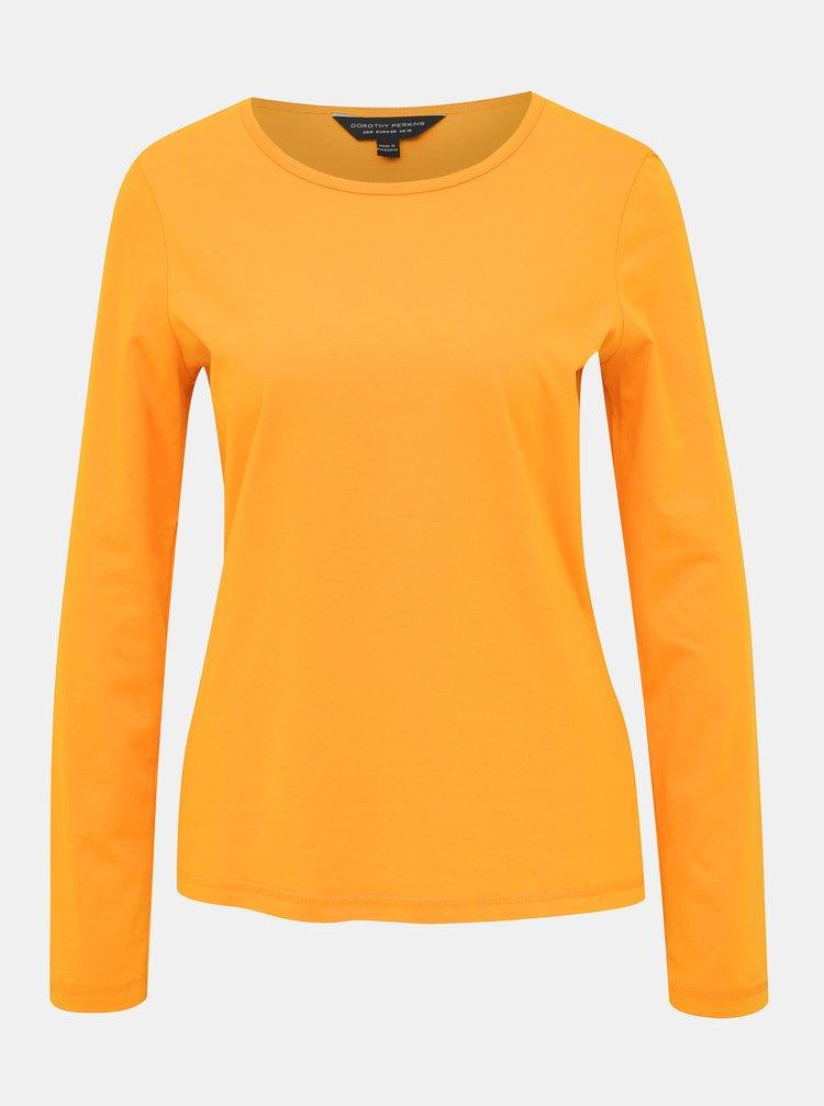 Oranžové basic tričko Dorothy Perkins