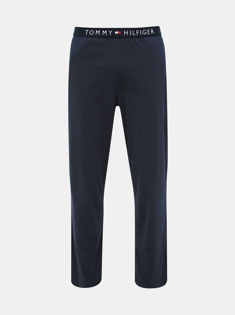 Modré pánske pyžamové nohavice Tommy Hilfiger