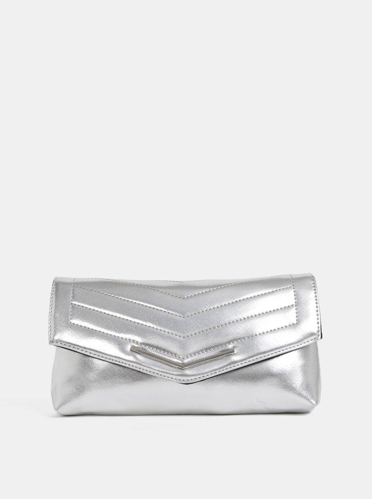 Listová kabelka v striebornej farbe Dorothy Perkins