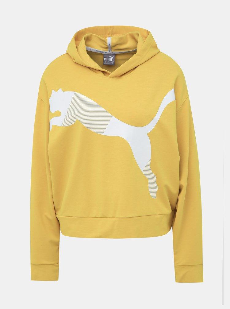 Žltá dámska mikina Puma Modern Sport